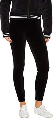 Juicy Couture Black Label Women's Stretch Velour Legging with Juicy Logo Waistband