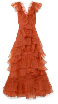 Johanna Ortiz Melancholy Dance Ruffled Silk-organza Gown