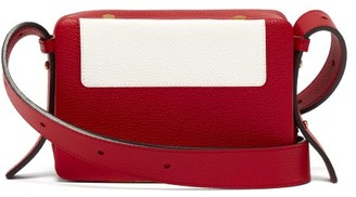 Lutz Morris - Maya Intarsia Leather Cross Body Bag - Womens - Red White