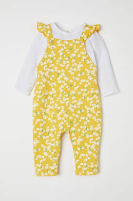 H&M Top and Bib Overalls - Yellow