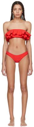 Lisa Marie Fernandez Red Double Ruffle Bikini