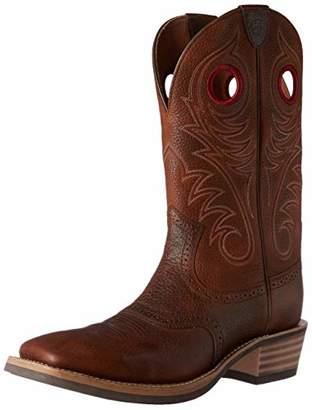 Ariat Men's Heritage Rough Stock Cowboy Boot Square Toe Brown