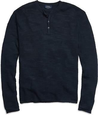 Ralph Lauren Custom Fit Cotton-Linen Henley