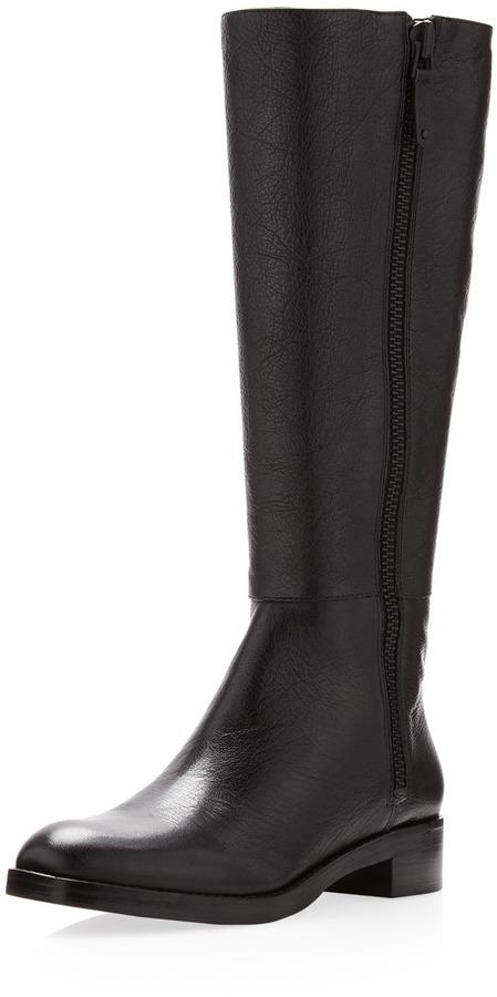 Via Spiga Gretchen Pebbled Boot, Black