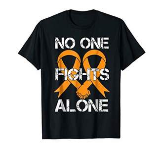 No One Fight Alone Hope Kidney Cancer Cute Tough Shirt Gift