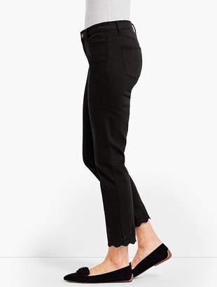 Talbots Scallop-Hem Denim Slim Ankle - Black