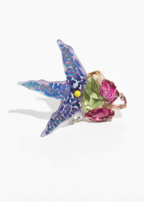 Tropical Flower Cocktail Ring
