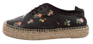 Saint Laurent Floral Espadrille Sneakers