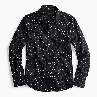 J.Crew Perfect shirt in heather flannel foil dot