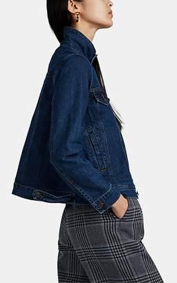 Lisa Perry Women's Snazzy Swing Denim Jacket - Blue