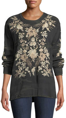 Johnny Was Othilia Thermal Floral-Embroidered Top, Plus Size