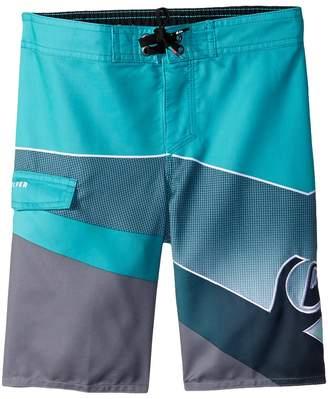 Quiksilver Slash Fade Logo Boardshorts Boy's Swimwear