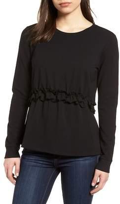 Halogen Ruffle Sweatshirt (Regular & Petite)