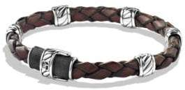 David Yurman Cable CollectionSterling Silver& Leather Bracelet