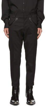 DSQUARED2 Black Hockney Western Trousers