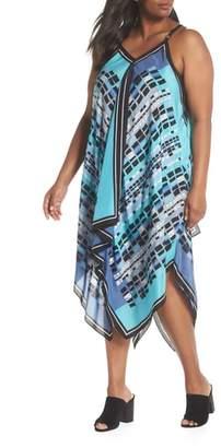Nic+Zoe From Above Print Silk Blend Dress