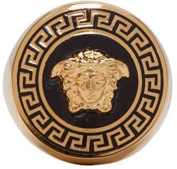 Versace Gold Medusa Ring $575 thestylecure.com