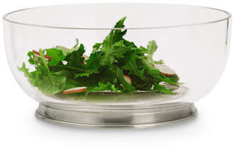 Match Medium Round Crystal Salad Bowl