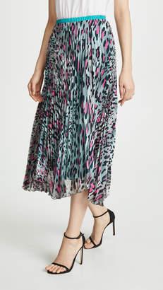 Loyd/Ford Pleated Leopard Skirt