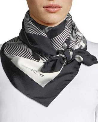 Lafayette 148 New York Check Silk Square Scarf