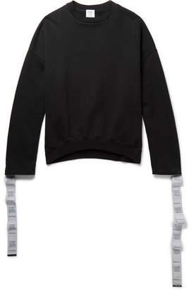 Vetements Oversized Tape-Trimmed Cotton-Jersey Sweatshirt