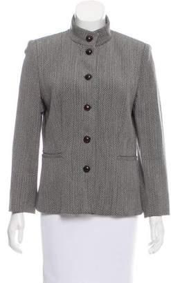 Giorgio Armani Wool-Blend Structured Jacket