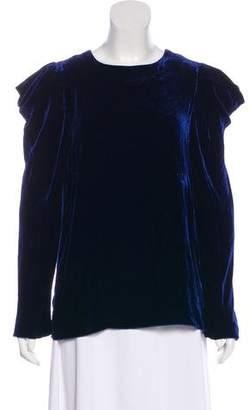 Tibi Velvet Cold-Shoulder Top w/ Tags