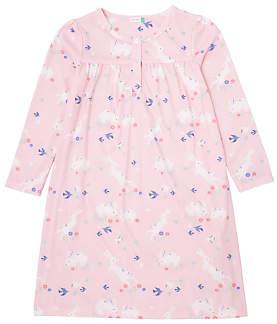 John Lewis Girls' Bunnies Print Nightdress, Pink