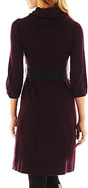JCPenney Alyx® Belted Sweater Dress