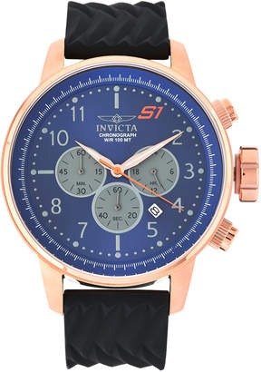 Invicta 23817 Rose Gold-Tone & Black Rally Chronograph Watch