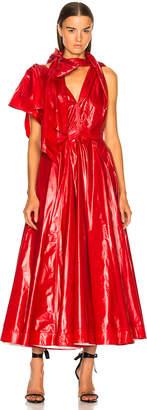Calvin Klein 205w39nyc Tie Neck Midi Dress