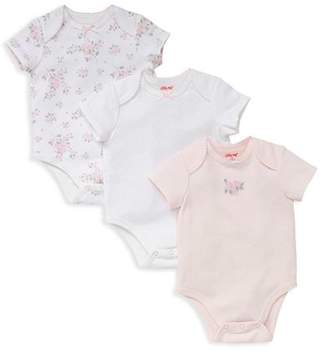 Little Me Girls' Polka-Dot Rose Bodysuits, Set of 3 - Baby