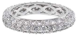 Kenneth Jay Lane CZ By Pave CZ Domed Band Ring