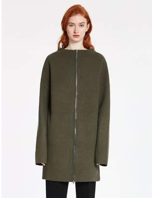 Calvin Klein felted merino wool jacquard sweater coat