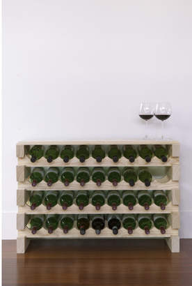 4 Layers of 9 Bottles Wine Rack Finish: Top Shelf Natural
