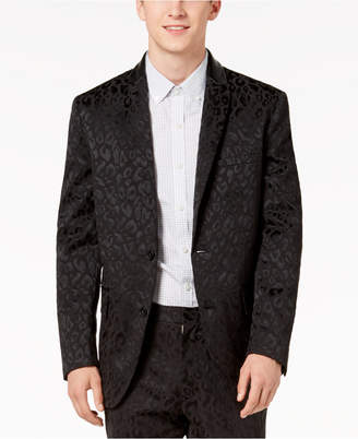 INC International Concepts I.n.c. Men's Slim-Fit Leopard-Print Blazer, Created for Macy's