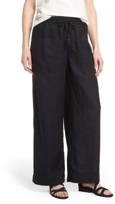 Eileen Fisher Wide Leg Organic Linen Pants