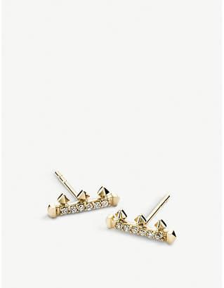 Kendra Scott Dorothy 14ct yellow-gold and diamond earrings