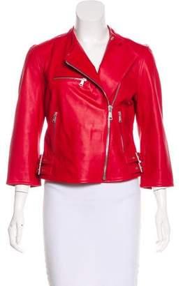 Dolce & Gabbana Leather Biker Jacket w/ Tags