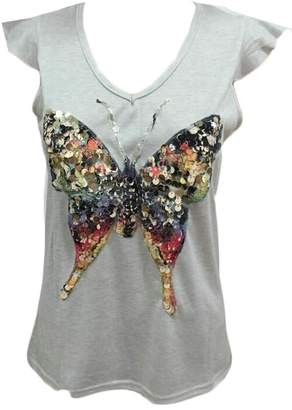 5ae41f5142ffdf GenericWomen Generic Women s Summer Sparkly Sequins Butterfly Print  Pullover Blouses Tee Shirts M