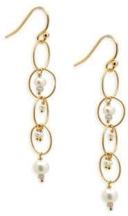 Chan Luu Multi-Stone & Sterling Silver Chain Earrings