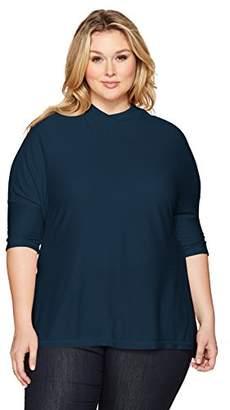 Melissa McCarthy Women's Plus Size Mock Neck Top