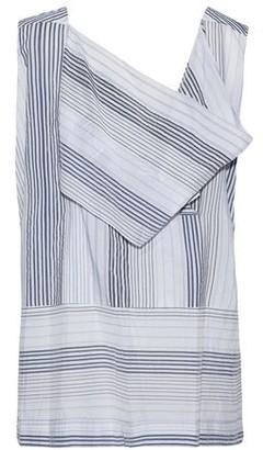 Stella McCartney Draped Cutout Striped Cotton-Blend Top
