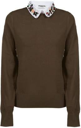 Essentiel Collar Embellished Sweater