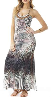 Sky Jeweled Maxi Dress