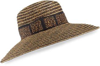 Kokin Macassar Gangster Leopard-Print Sun Hat