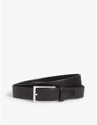 BOSS Cedy embossed leather belt