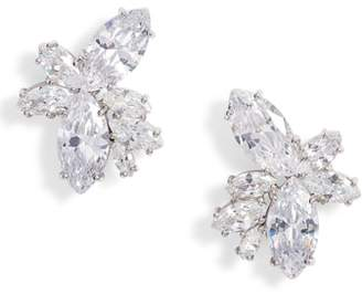 Nina Floral Stone Cluster Stud Earrings