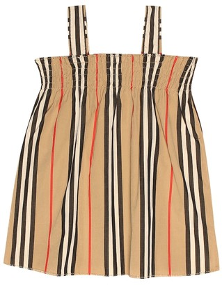 Burberry Baby Icon Stripe cotton dress