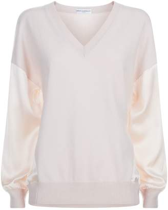 Amanda Wakeley Cashmere-Silk V-Neck Sweater